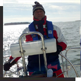Sitting on Sail Boat